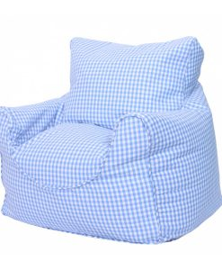 blue_gingham_bean_chair_side