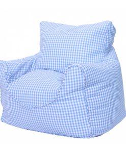 blue_gingham_bean_chair_side
