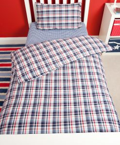 check_duvet_set_and_navy_fitted_sheet_2