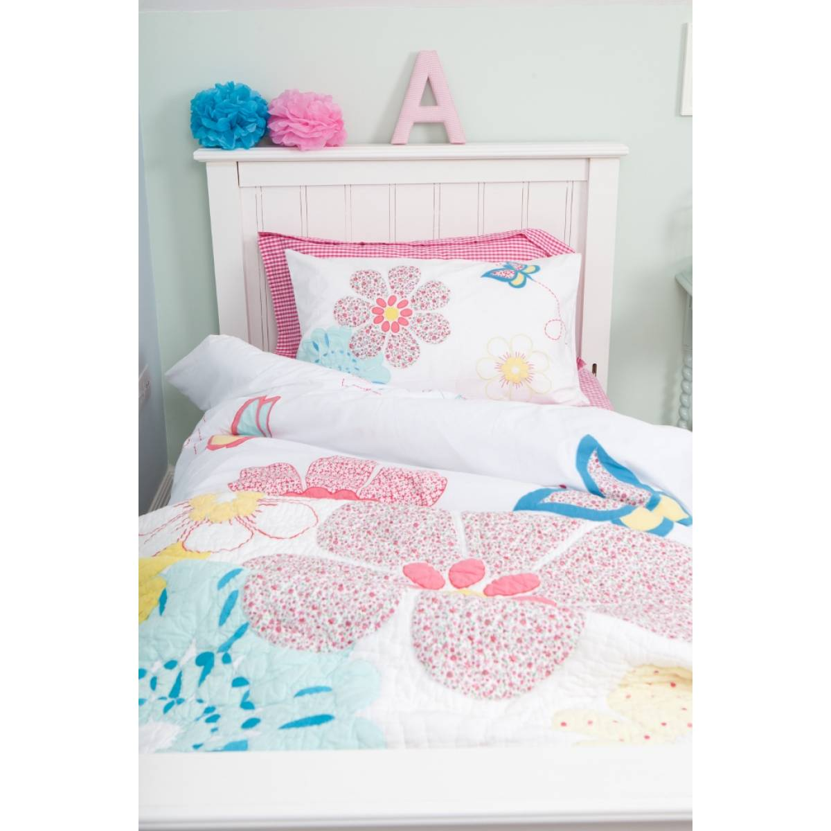 Daisy Floral Duvet Set Single Focus Bedding