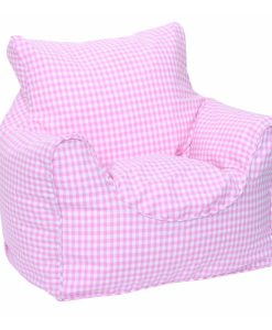 pink_gingham_bean_chair