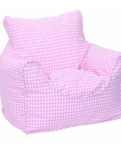 pink_gingham_bean_chair