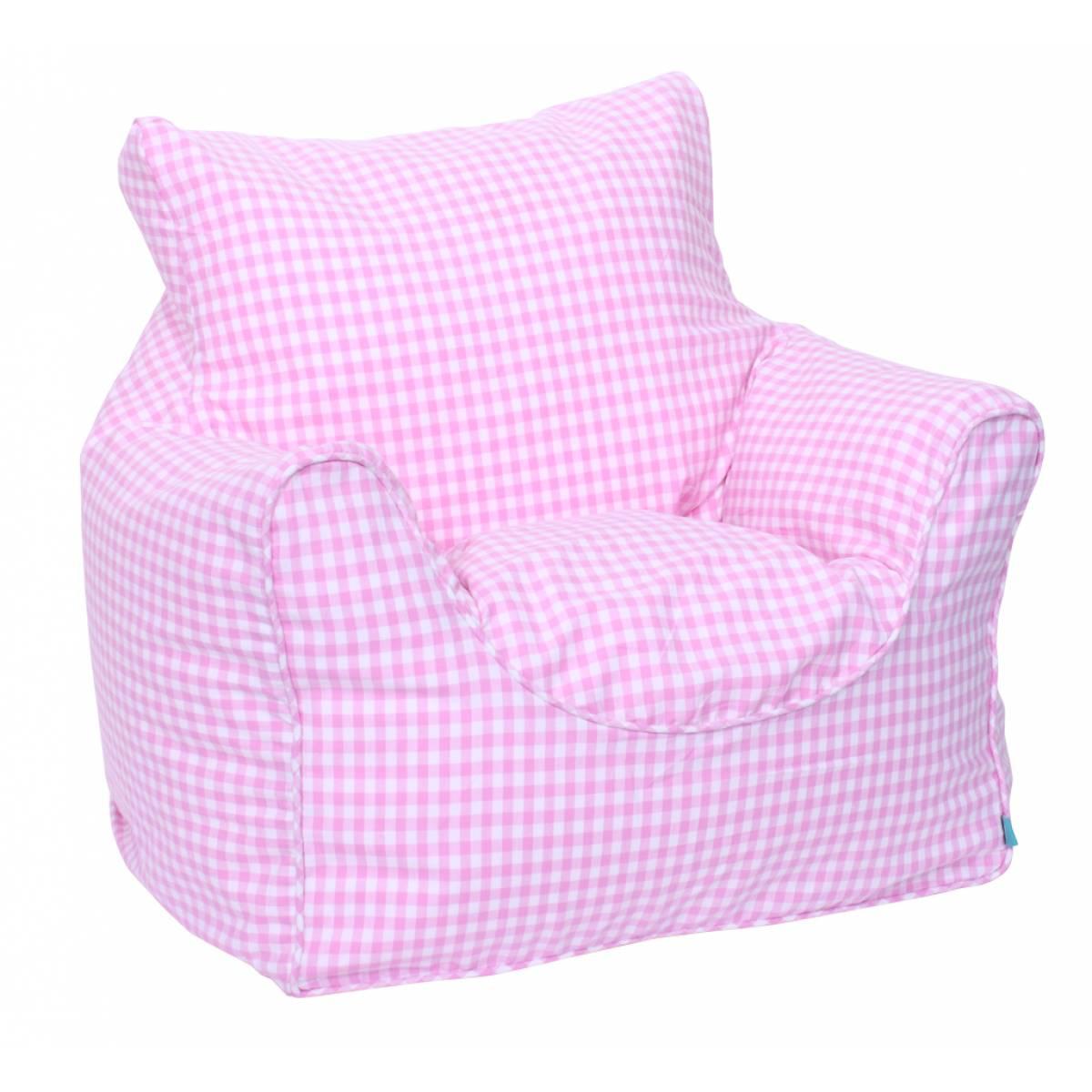 Phenomenal Bean Bag Chair Filled Pink Gingham Uwap Interior Chair Design Uwaporg