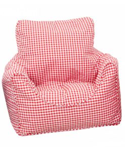 red_gingham_bean_chair