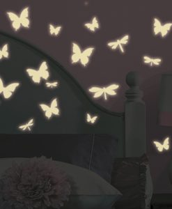 rmk1706scs_butterflies_and_dragonflies_glow_in_the_dark_wall_decals_alternate_roomset